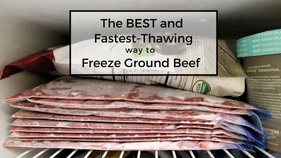 The BEST and Fastest-Thawing Way to Freeze Ground Beef