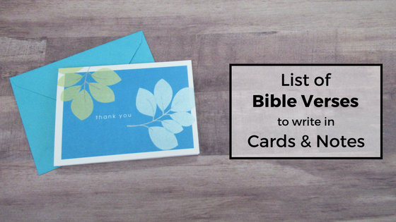List of Bible Verses to Write in Cards and Notes